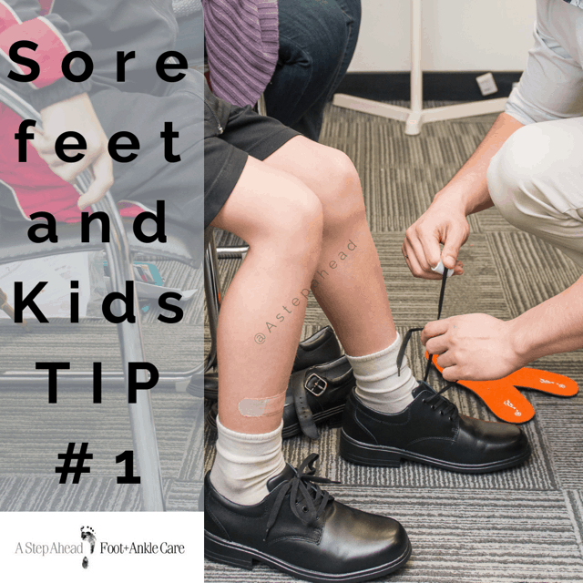 Sore Feet in Kids Tip #1